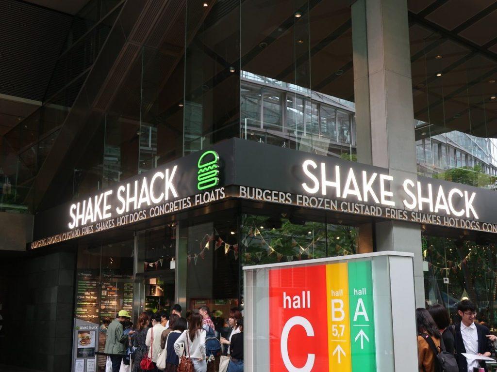 東京国際フォーラム近くのShake Shack(シェイクシャック)の写真 photo by 茶子(ちゃこ)
