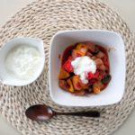 超簡単レシピ -ブルガリア料理 カヴァルマ (肉と野菜のトマト煮にヨーグルトをそえて)