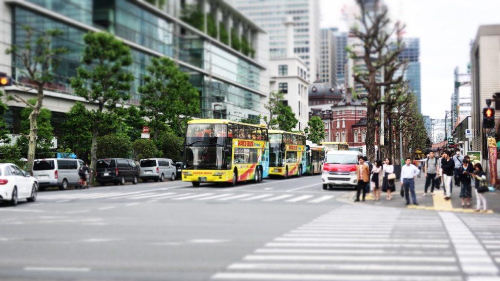 東京駅はとバス乗り場 photo by 茶子(ちゃこ)