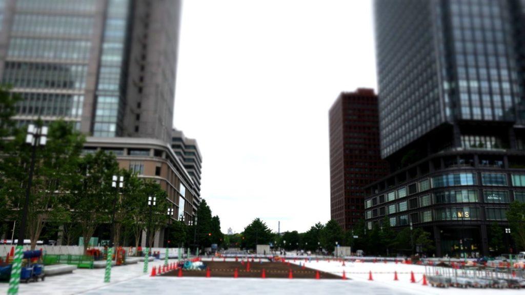 丸の内駅前広場(工事中)photo by 茶子(ちゃこ)