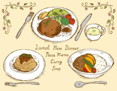 レストラン予約のイメージイラスト