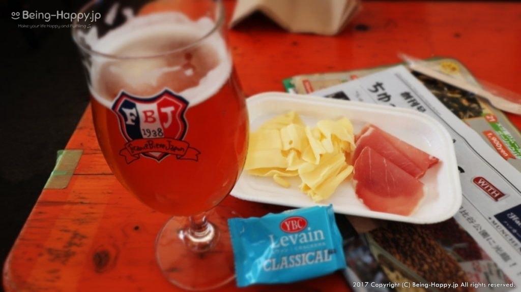 ヒビヤガーデン(日比谷公園)で食べたフランス産ビールとゴーダチーズとプロシュート