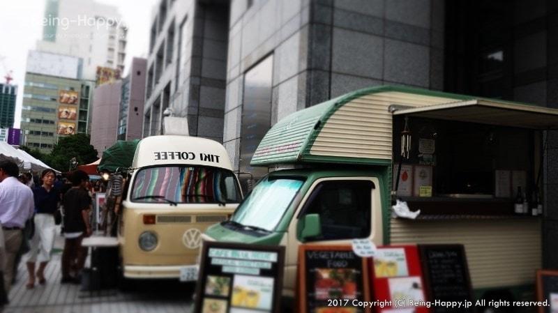 青山ファーマーズマーケットーコーヒーのキッチンカーも結構あった