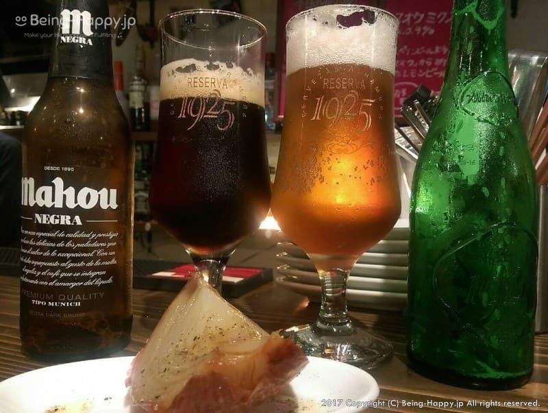 IBIZAバルで飲んだスペイン・マドリッドのビール「マホウ(MAHOU)」と、アルハンブラの「1925」