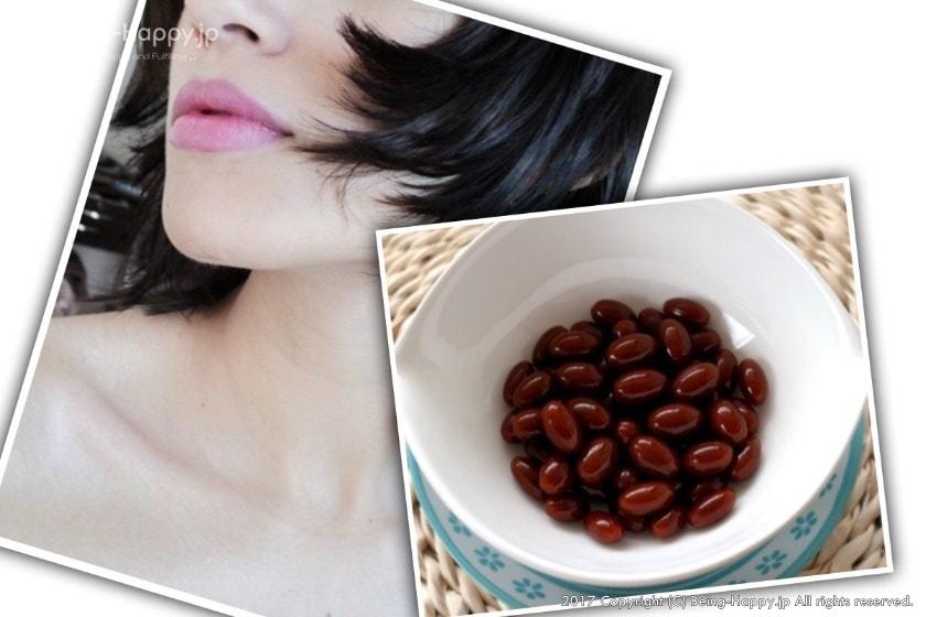 プラセンタサプリと綺麗な肌のイメージ写真