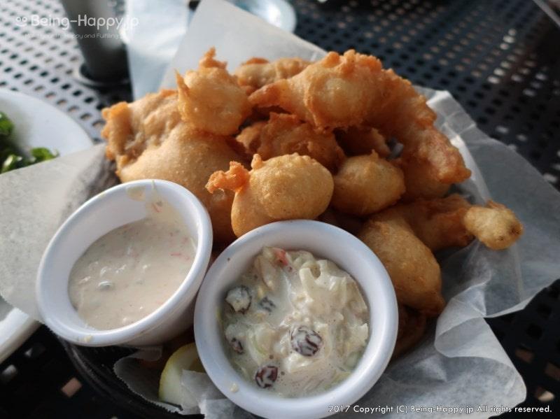魚介のフリッターとタルタルソース