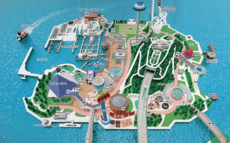 横浜・八景島シーパラダイス内のマップ