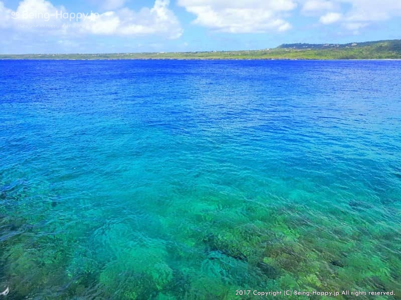サイパンの海の色