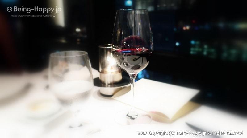 赤ワインと夜景@Fish Bank TOKYO「フィッシュバンク東京」 photo by 茶子(ちゃこ)