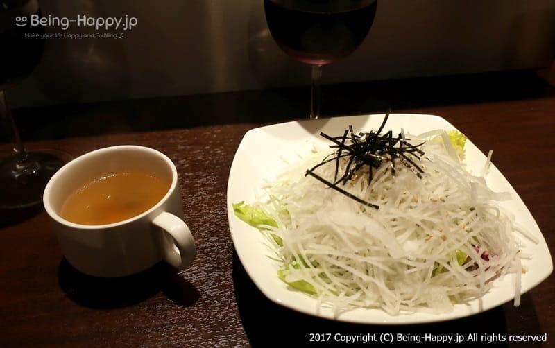 サラダとスープ@いきなりステーキ photo by 茶子(ちゃこ)