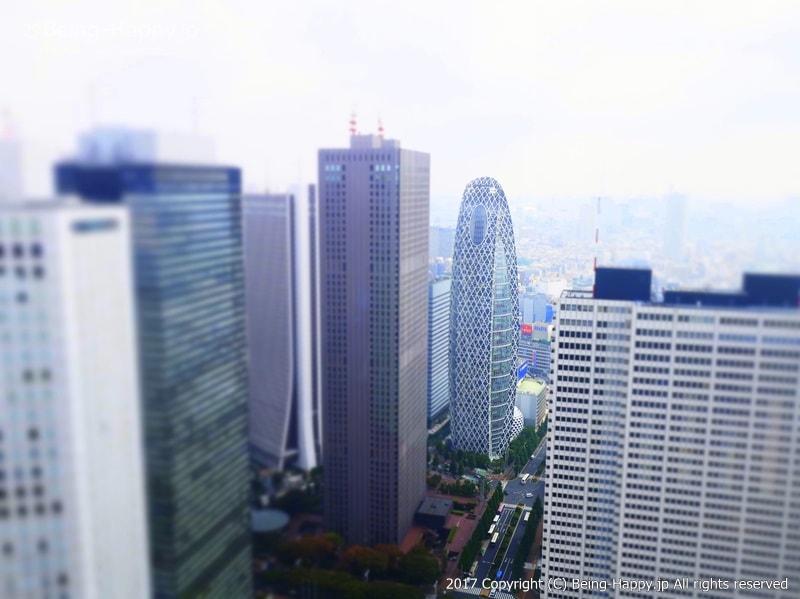 都庁の展望台からみた景色ービル群@西新宿 東京都庁 photo by 茶子(ちゃこ)