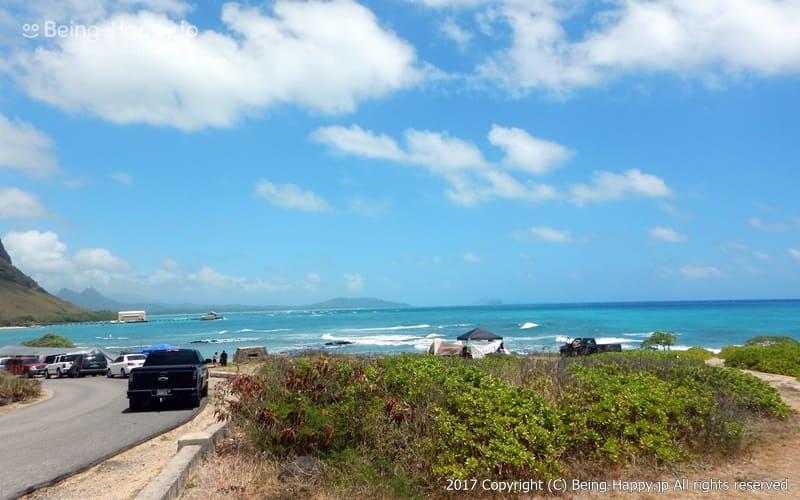 ドライブ中の写真ーカラニアナオレ・ハイウェイ(Kalanianaole Hwy) マカプウ、ハナウマ湾、ワイマナロ、カイルアなど、数々の絶景を臨めるとして人気のドライブコース photo by 茶子(ちゃこ)