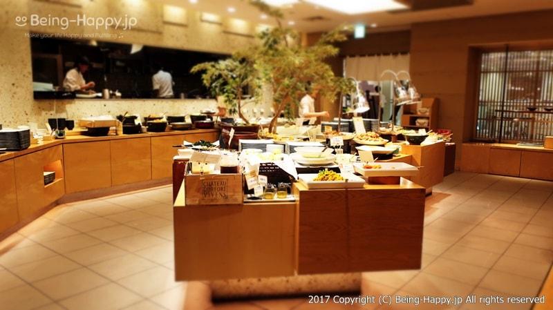 自然食ビュッフェレストラン はーべすと ービュッフェスペース全体像