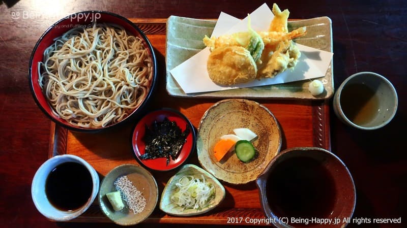 そば処 桔梗家ー注文した天ぷらセイロ