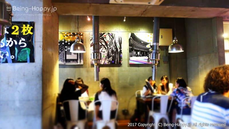 韓国焼肉くるむ店内の様子ー満席でした photo by 茶子(ちゃこ)