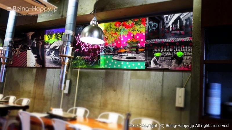 韓国焼肉くるむ店内のインテリアデザイン photo by 茶子(ちゃこ)