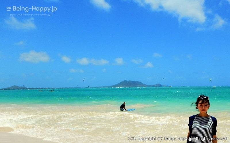 カイルア・ビーチ(Kailua Beach)と私 photo by 茶子(ちゃこ)