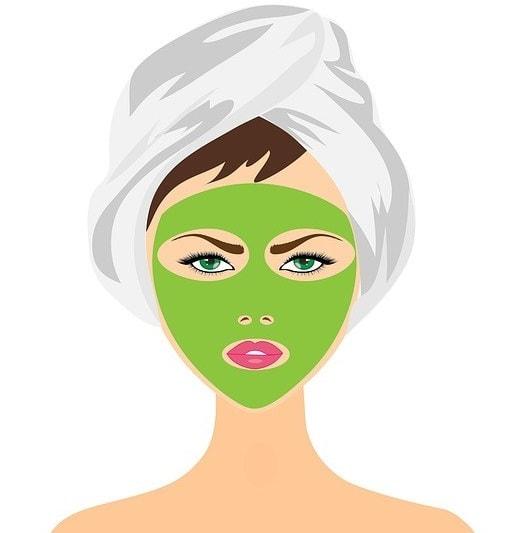肌ケアを気にする女性のイメージイラスト