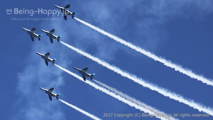 2017年の入間航空祭でのブルーインパルス