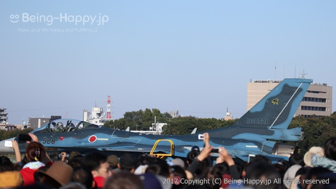 F-2の帰投の直前シーン