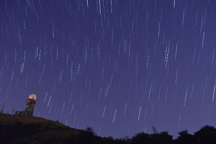 星空ーシャッター速度20秒