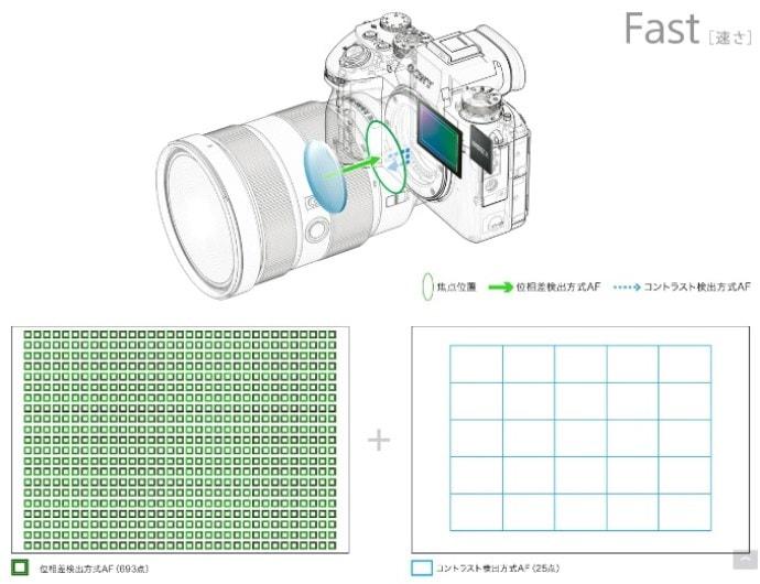 ソニー α9 のオートフォーカスイメージ図
