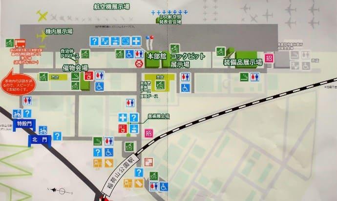 入間航空祭の場内マップ