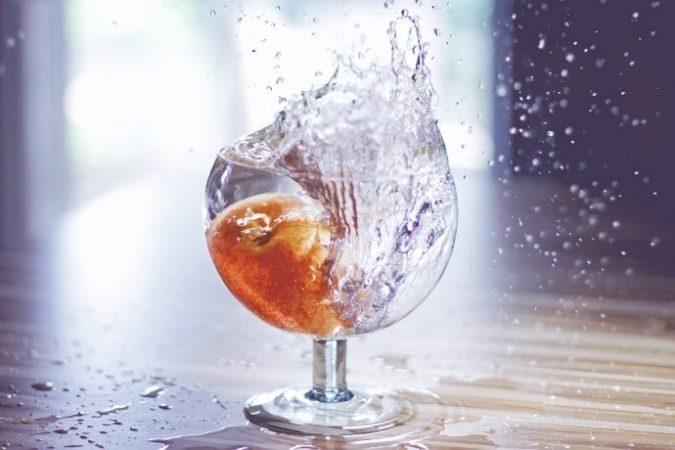 グラスに入ったお水
