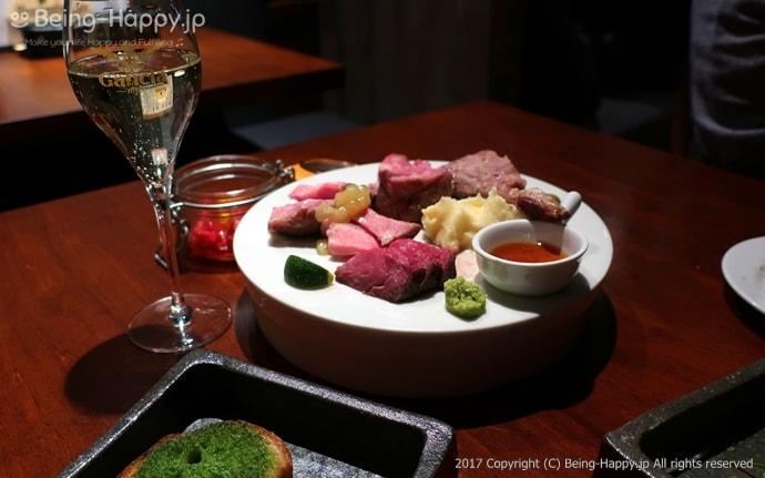 原価ビストロBAN - スパークリングワインと肉