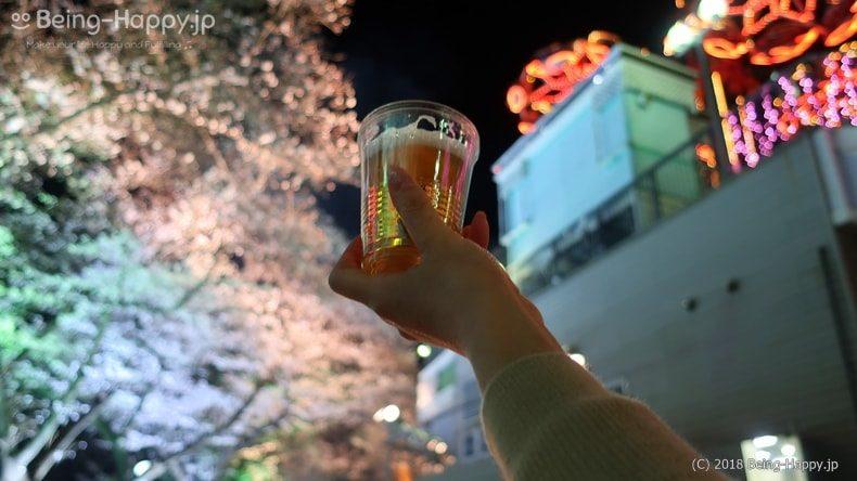 としまえんの桜とビール