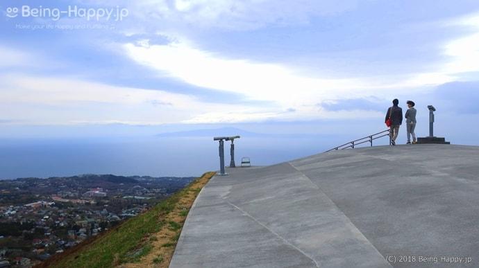 大室山の山頂遊歩道