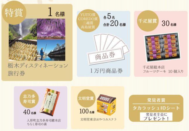 『ニホンバシ宝探し 幻の桜 人が織りなす物語』豪華賞品