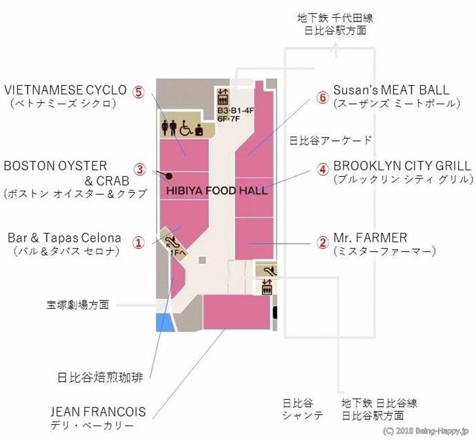 フードホールマップ