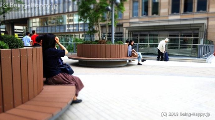 東京ミッドタウン日比谷のベンチ