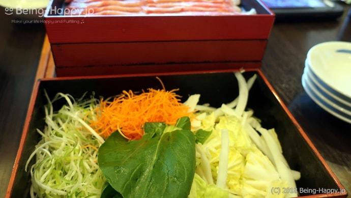 かごの屋のランチ-しゃぶしゃぶ食べ放題の野菜