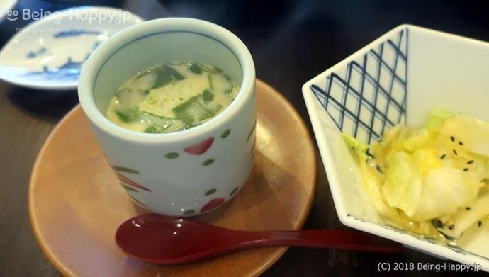 かごの屋のランチ-しゃぶしゃぶ食べ放題の茶碗蒸し