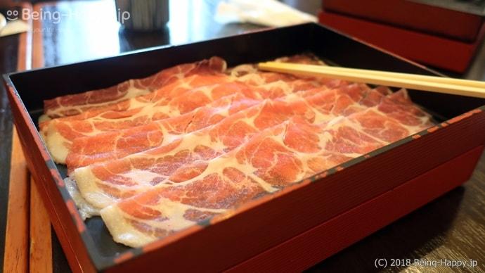 かごの屋のランチ-しゃぶしゃぶ食べ放題のお肉