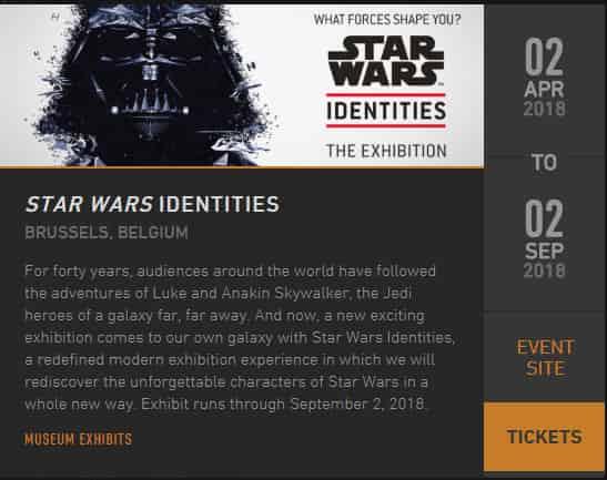 Star Wars Idenntities the exhibition