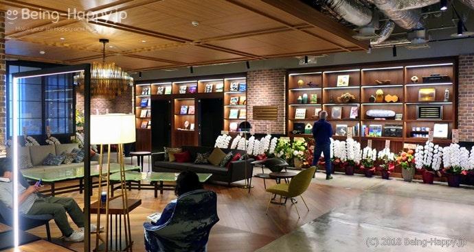 渋谷ストリームエクセルホテル東急4階のラウンジ