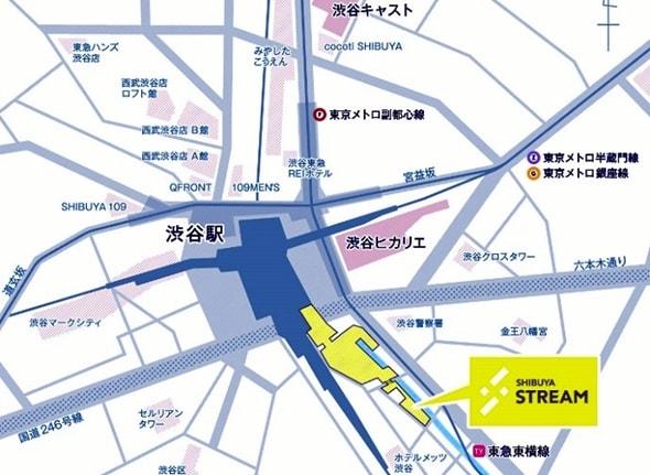 渋谷ストリーム場所