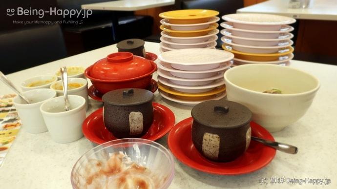 かっぱ寿司-食べた後のお皿の山
