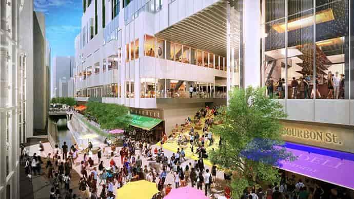 渋谷ストリーム稲荷橋広場とリバーサイドマーケット
