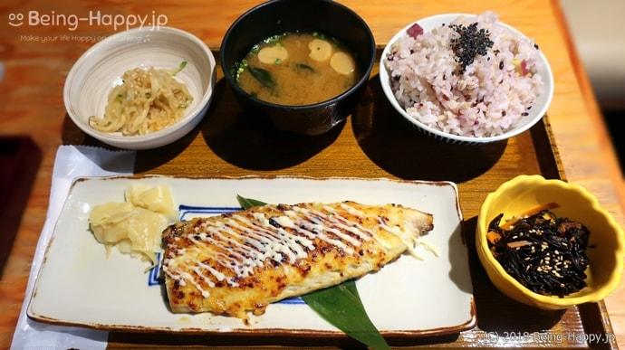 なかよし 鯖のマヨネーズ味噌焼き定食