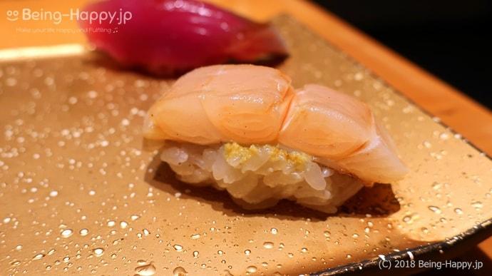 SUSHI TOKYO TEN、(スシトウキョウテン) 太刀魚の握り