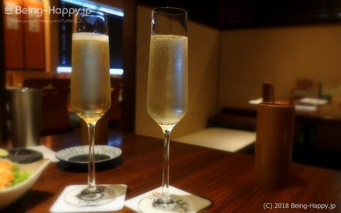串亭ー乾杯のスパークリングワイン