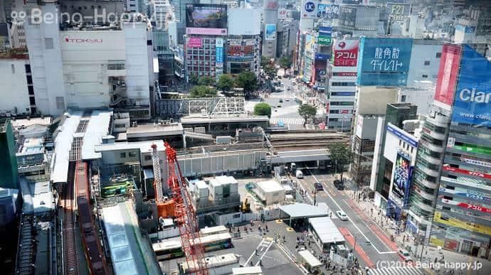 渋谷ヒカリエからみた渋谷交差点