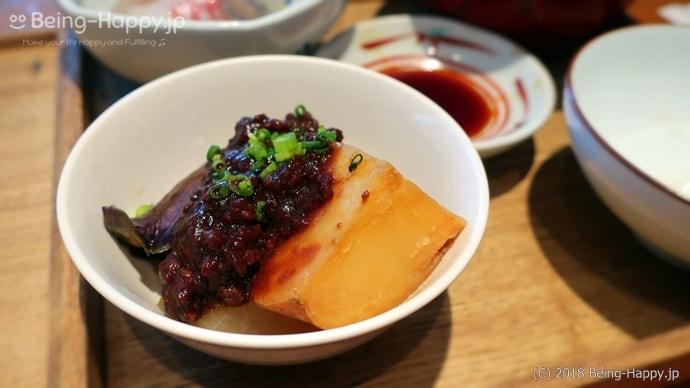 酢重ダイニング お昼の おすすめセットに付いてくる季節の温菜