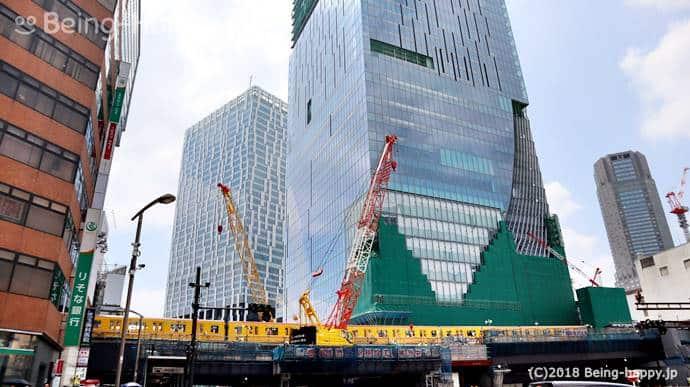 工事中の渋谷スクランブルスクエア