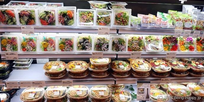 プレッセ シブヤ デリマーケット 充実のサラダコーナー