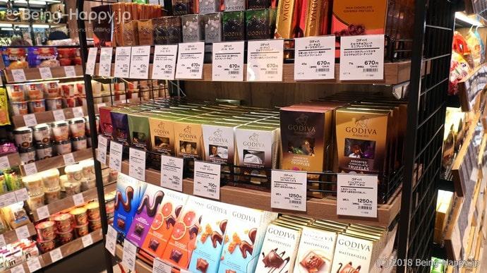 プレッセ シブヤ デリマーケット GODIVA高級チョコレートの数々